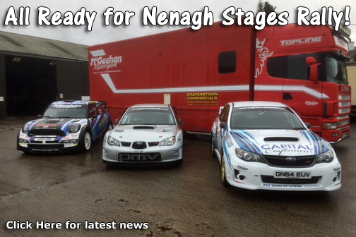 All ready for Nenagh Stages Rally