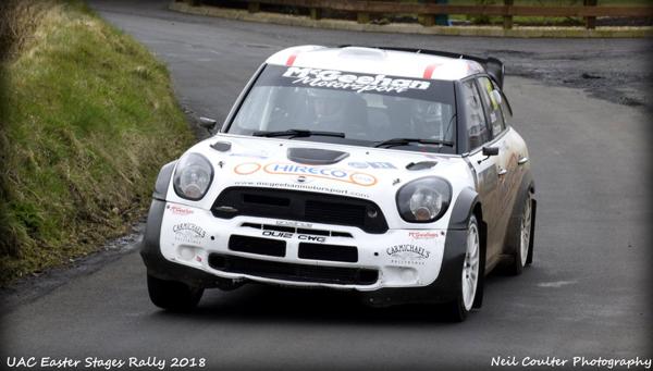 Alan Carmichael & Ivor Lamont in the McGeehan Motorsport Mini WRC