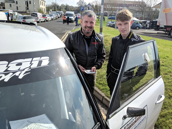 Father & Son - Derek & Mark lead the NI Rally Championship.