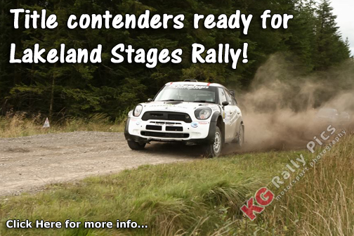Derek & Mark McGeehan lead NI Rally Championship going into Lakeland Stages Rally