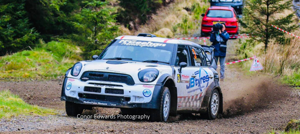 David Bogie & John Rowan defend their Galloway Hills Rally Crown with a McGeehan Motorsport Hire Mini WRC